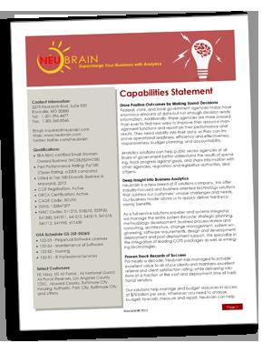 Neubrain At a Glance Brochure