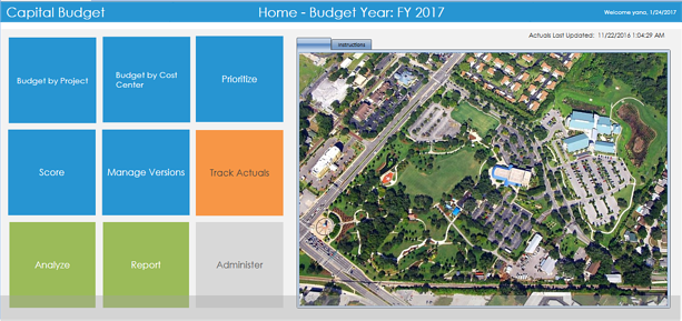 Capital Budget Creation